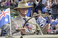 Proud Digger in ANZAC Day Parade